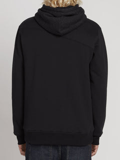 Single Stone Lined Zip Hoodie - Black (A5831900_BLK) [B]