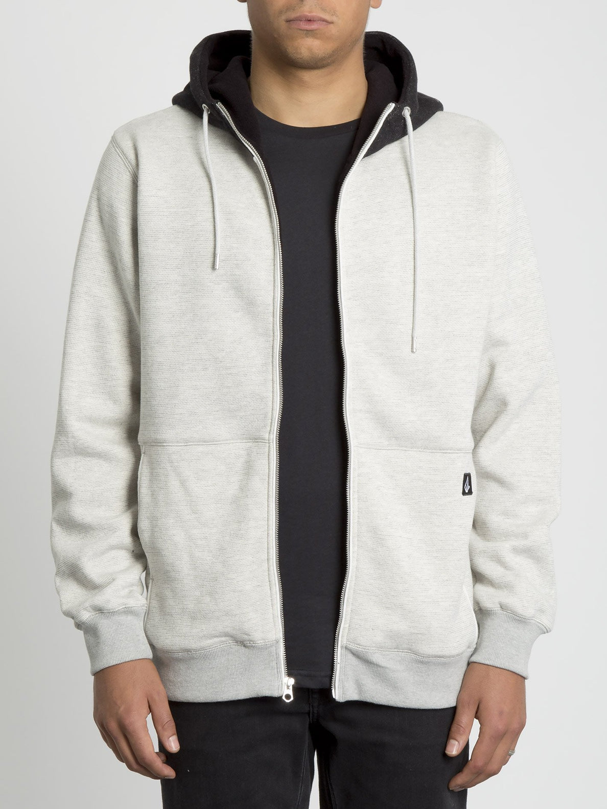Drastic Stone Lined Zip Hoodie - Heather Grey (A5831903_HGR) [2]