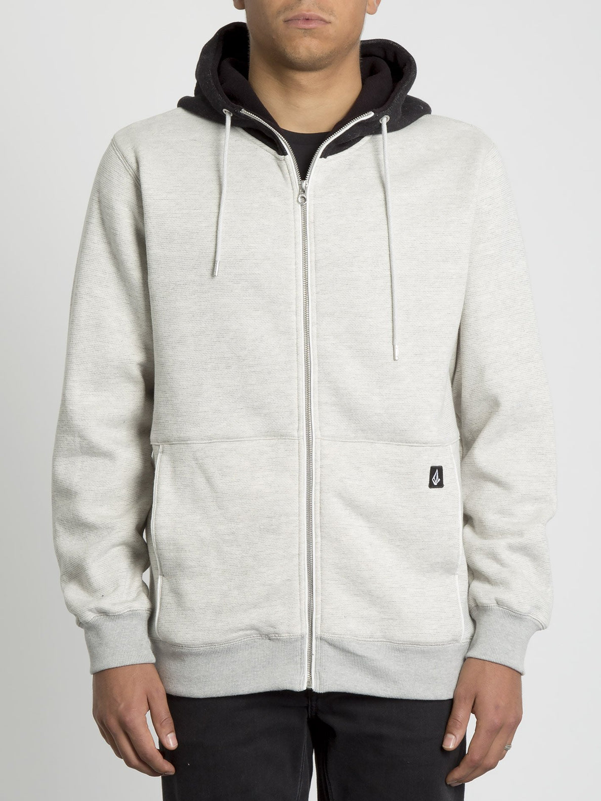 Drastic Stone Lined Zip Hoodie - Heather Grey (A5831903_HGR) [F]