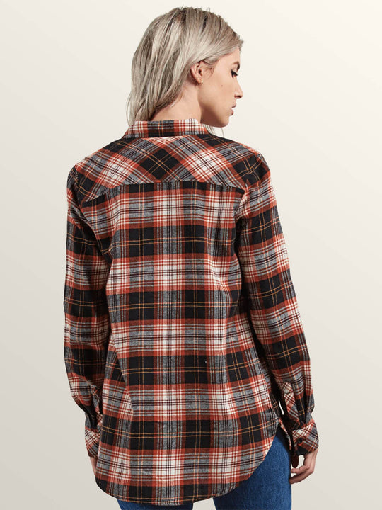 Getting Rad Plaid LS - Black Plaid