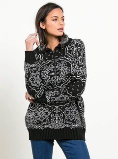 Petal Metal Sweater - Black