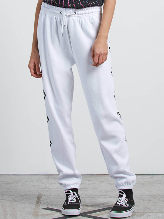 Gmj Fleece  Hose - White