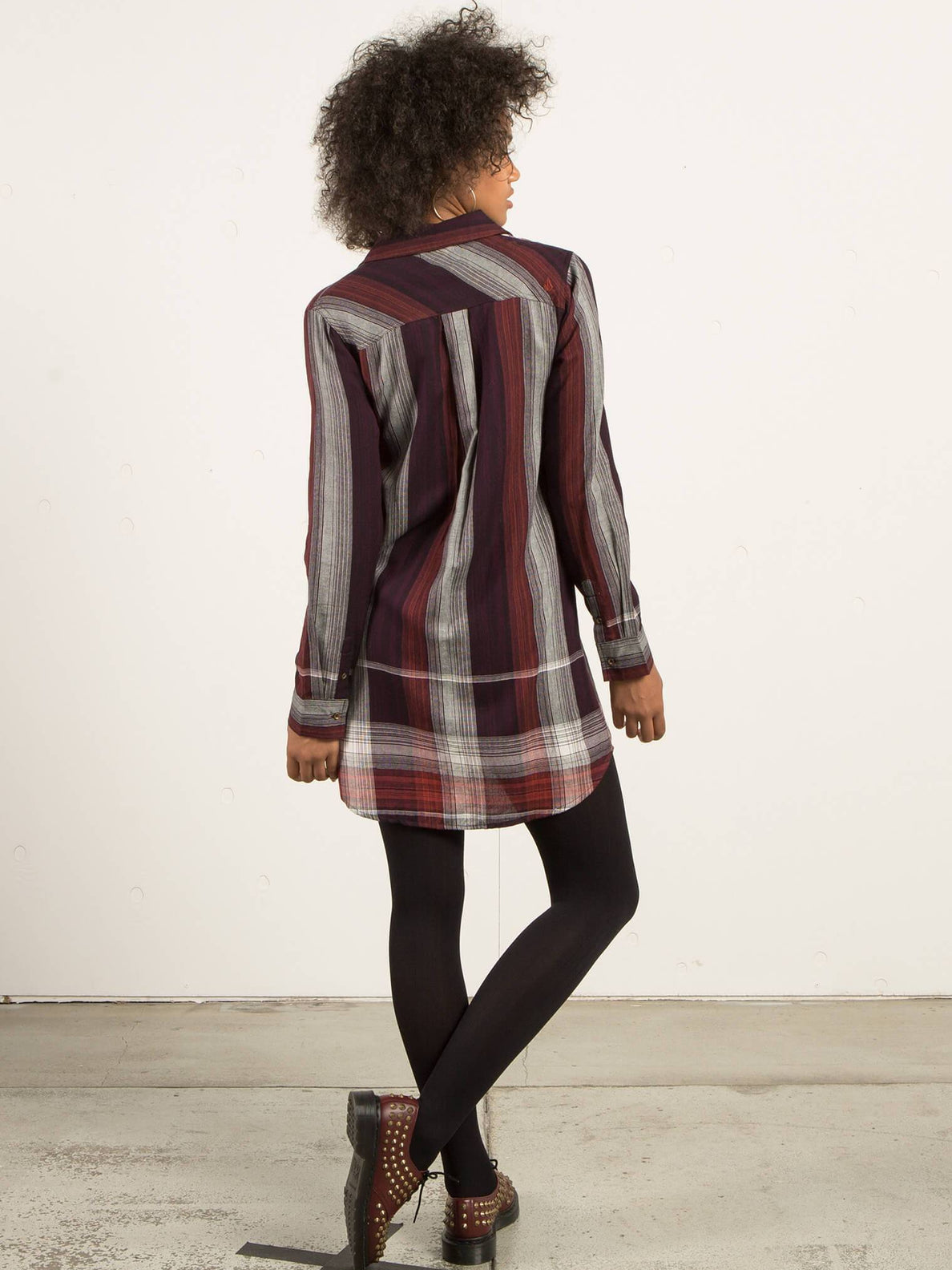 Well Plaid Dress - Plum
