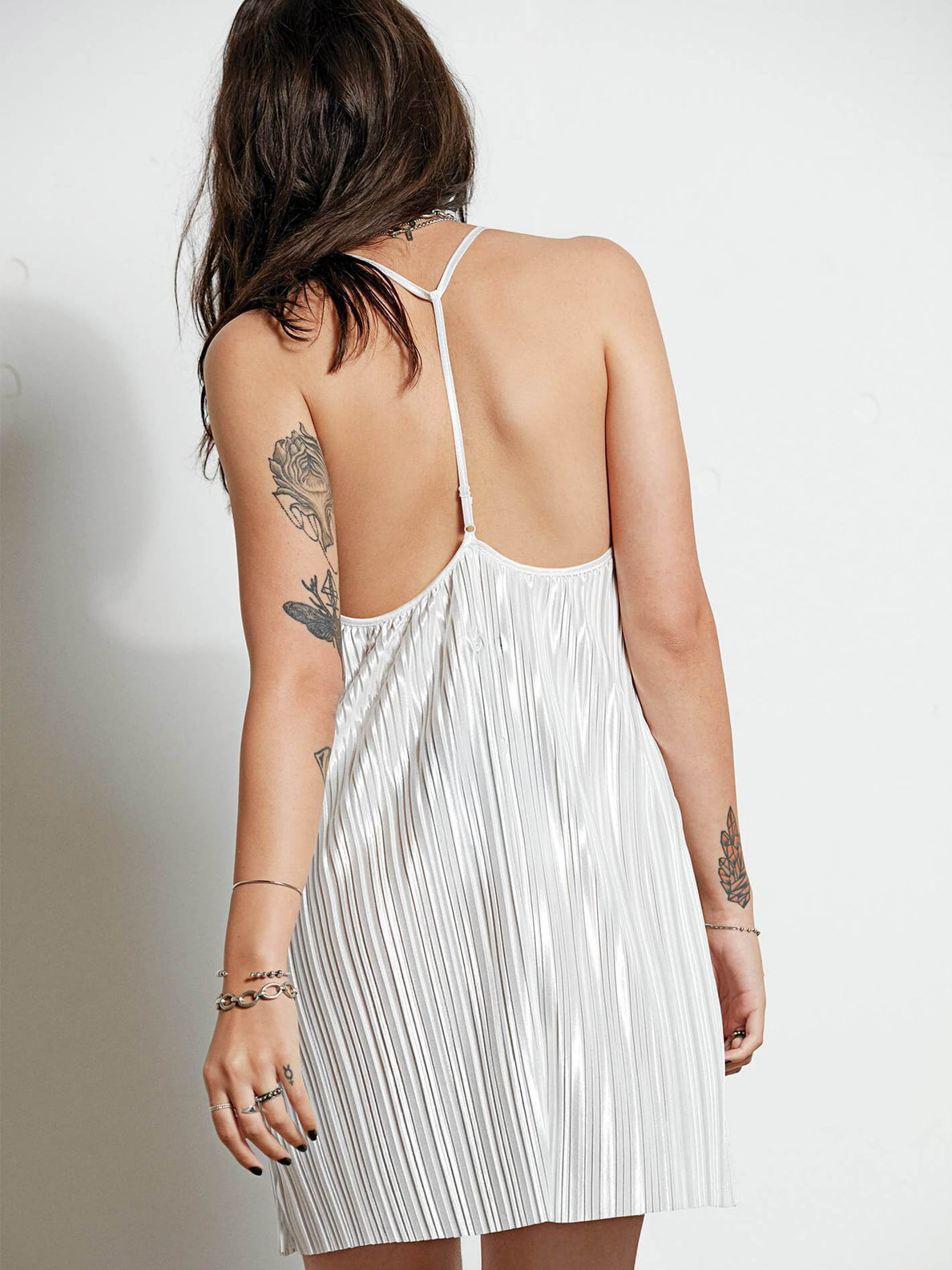 Just Pleat It Dress - Brushed Nickle