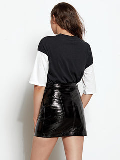 Patent Weather Skirt - Black
