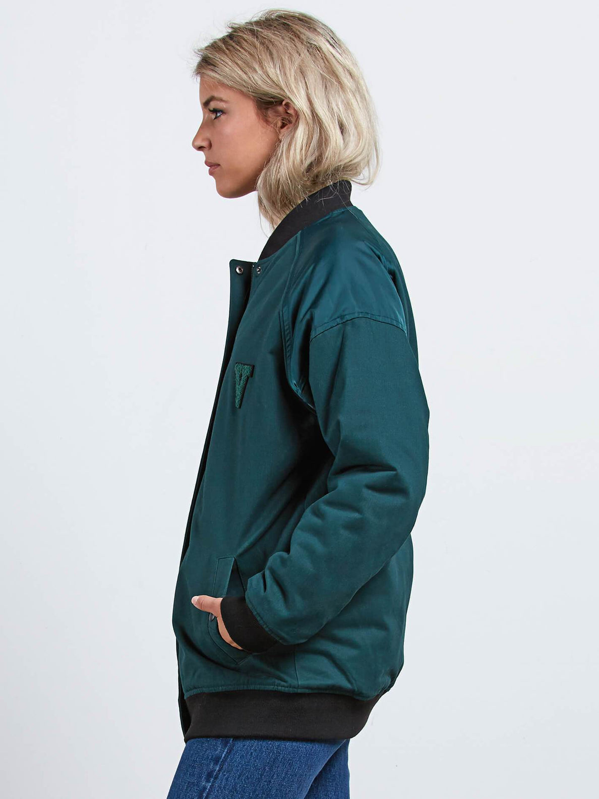 Not Half Bomber Jacke - Evergreen