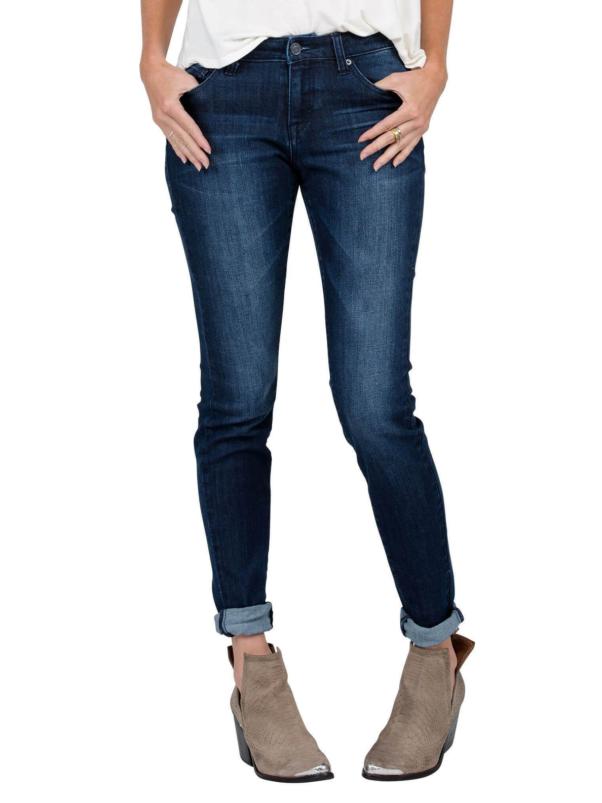 Jeans Super Stoned Skinny - Double Down Indigo