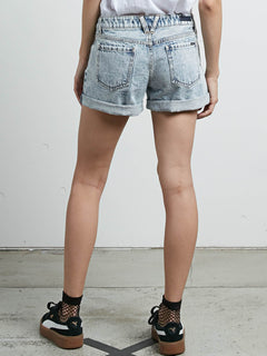 Jeans-Shorts Stoned Rolled - Cloud Blue