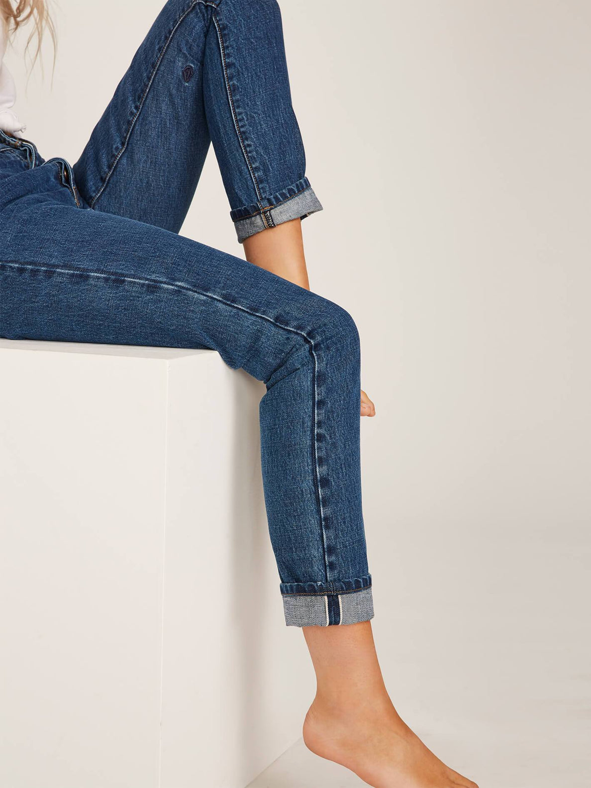 Super Stoned Skinny Jeans - Used Blue