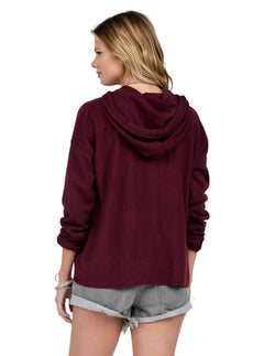 Lived In Pullover Hoodie - Merlot