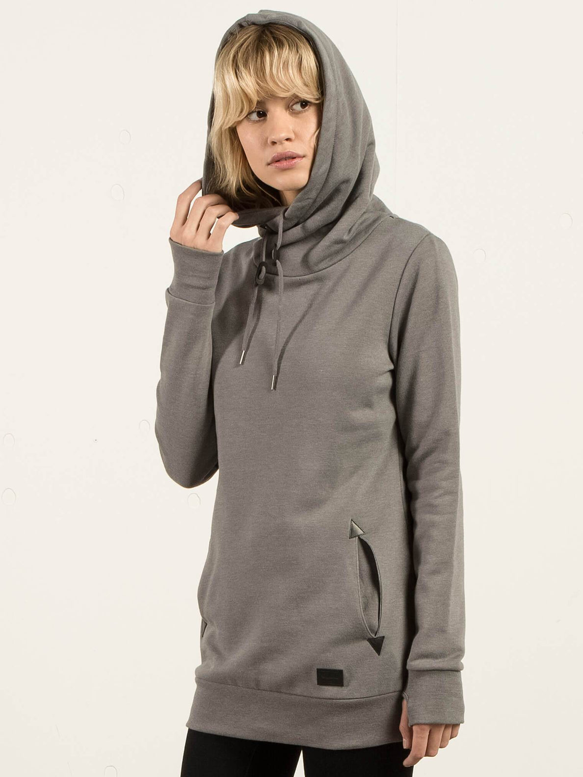 Hoodie Walk On By High Neck - Charcoal