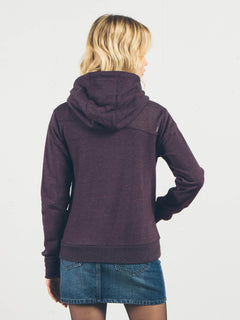 Hoodie mit Frontzip Walk On By - Plum