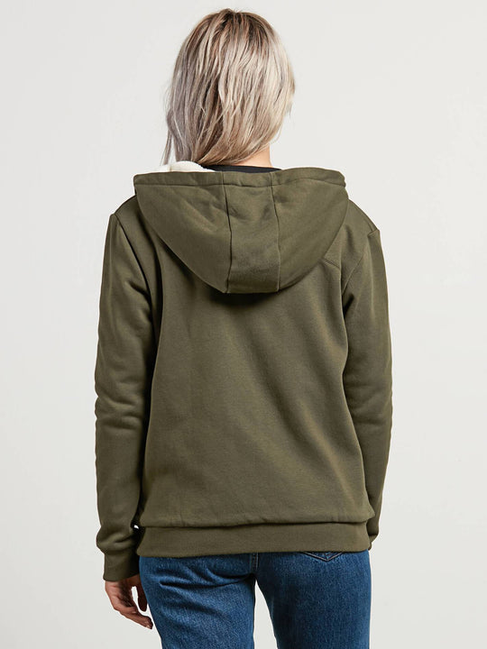 Walk On By Sherpa Sweatshirts - Dark Camo