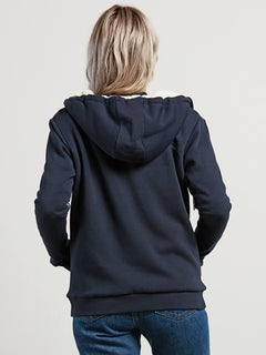 Walk On By Sherpa Sweatshirts - Sea Navy