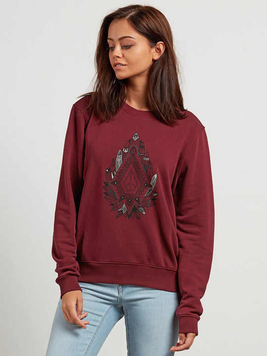 Sound Check Fleece Sweatshirts - Burgundy