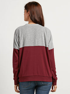 Blocking  Sweatshirts - Burgundy
