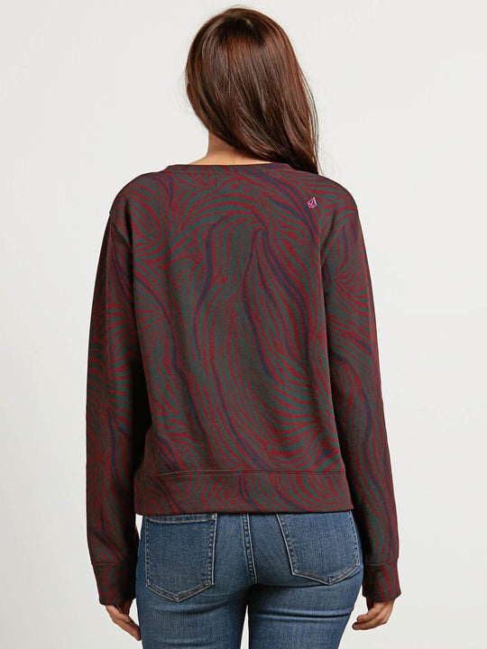 Splat Dat  Sweatshirts - Burgundy