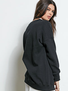 Me Too Rundhals-Sweatshirt - Black