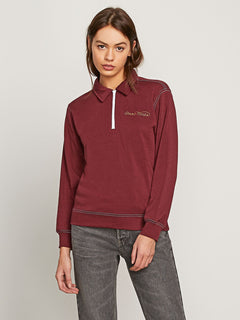 Stoney Sorority Zip Sweatshirt - Zinfandel
