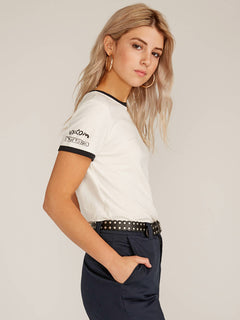 T-SHIRT RINGER - White