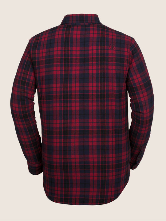 Sherpa Flannel Jacke - Red