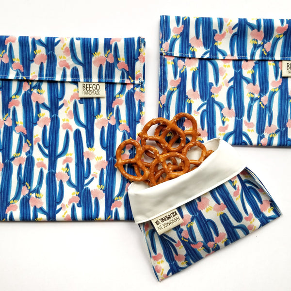 Blue Saguaro Snack Bag
