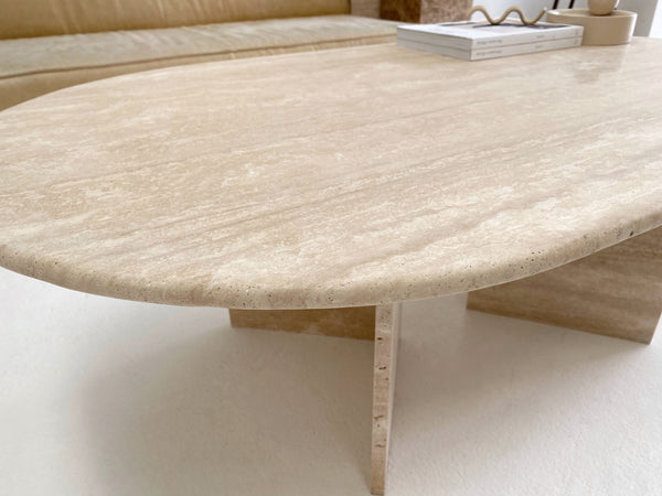 Sienna Travertine Coffee Table ~ Low Stock