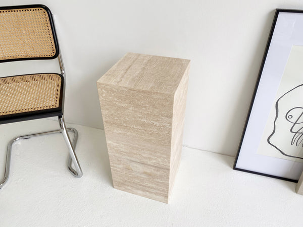 Vein Cut Travertine Plinth ~ Low Stock