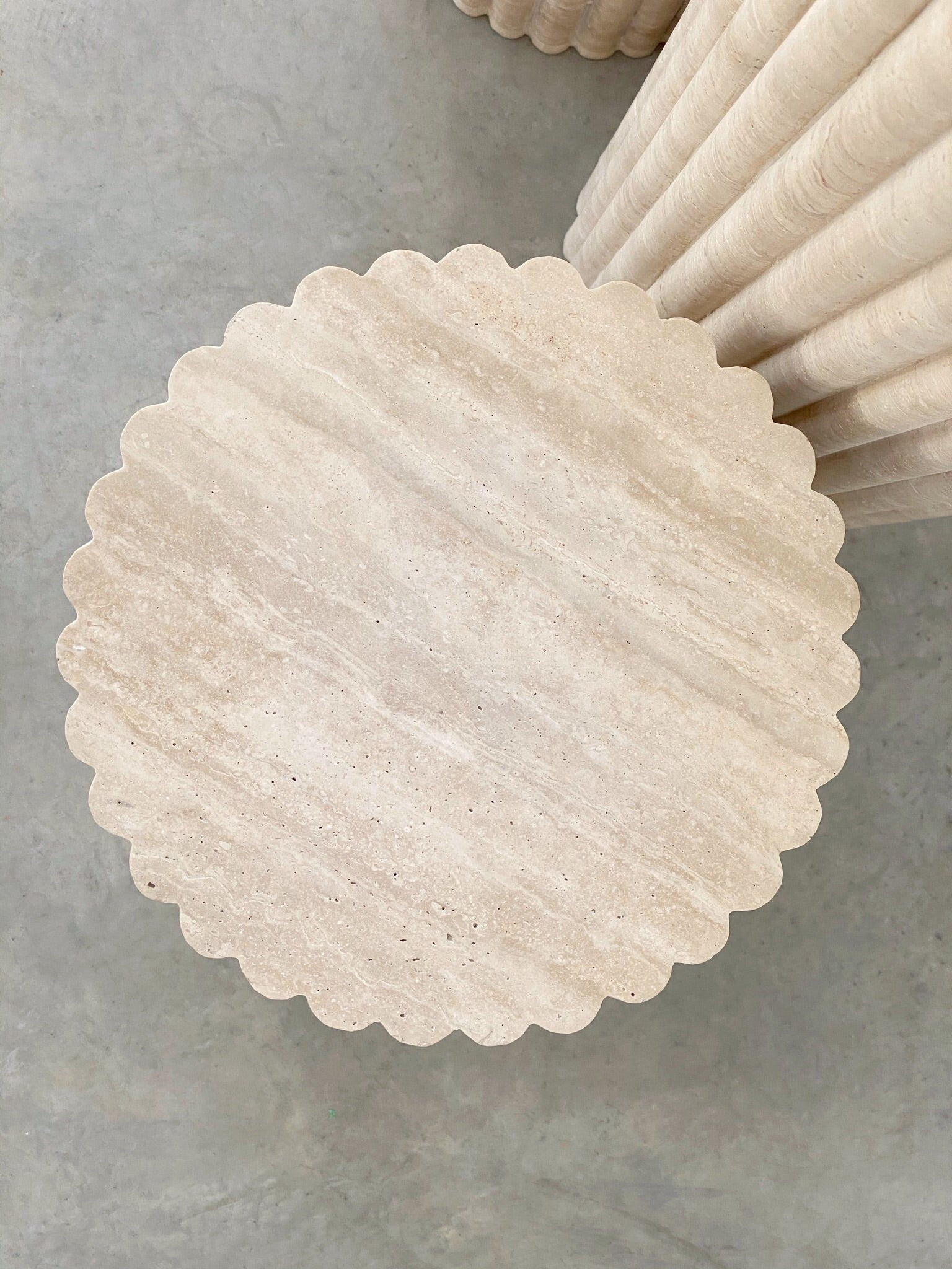 Rosetta Plinth, Travertine (JAN PREORDER)