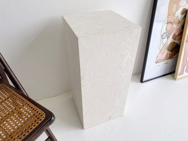 Fossil Limestone Plinth ~ Low Stock