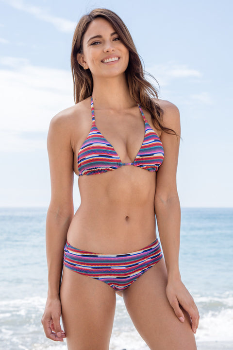 Billabong - Seeing Stripes Triangle Top | Multi - The Girl and The Water - 1