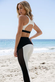 Blue Life Fit - Cut It Out Sports Bra | White Jacquard - The Girl and The Water - 2