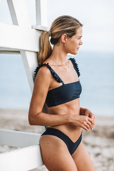 Summer Label - Bahama Top | Ribbed Midnight
