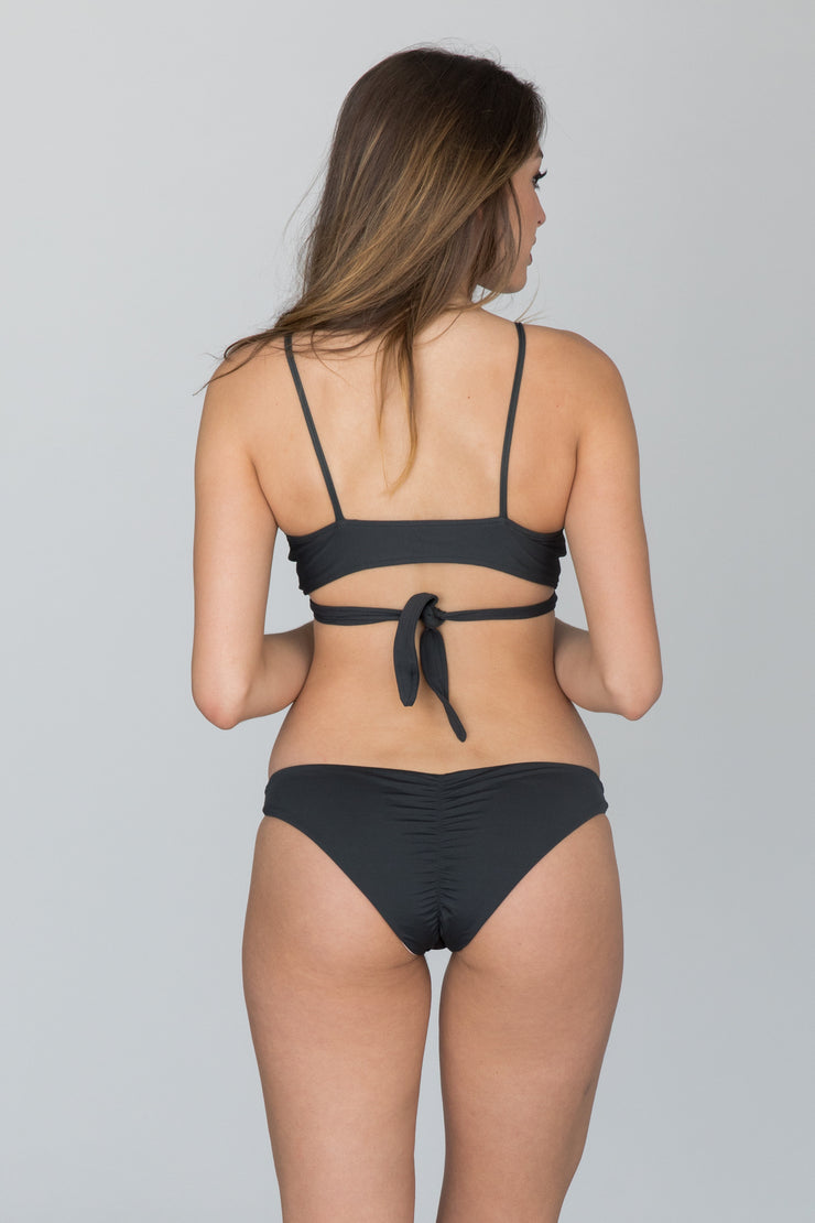 L*Space Swim - Emma Reversible Bottom | Charcoal