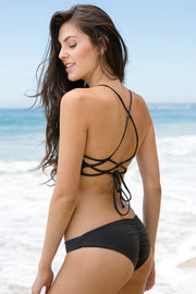 L*Space Swim - Haley Reversible Top | Charcoal - The Girl and The Water - 3