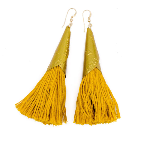 Often Wander - Jingle Earrings | Mustard