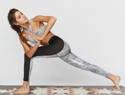 Blue Life Fit - Perforated Contrast Legging | Pebble