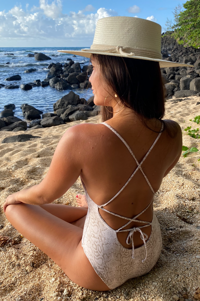 The Girl & The Water - Kaua'i One Piece | Python