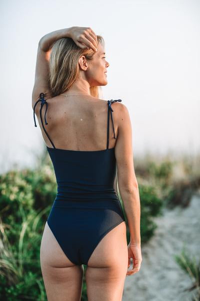 Summer Label - Culebra One Piece | Ribbed Midnight