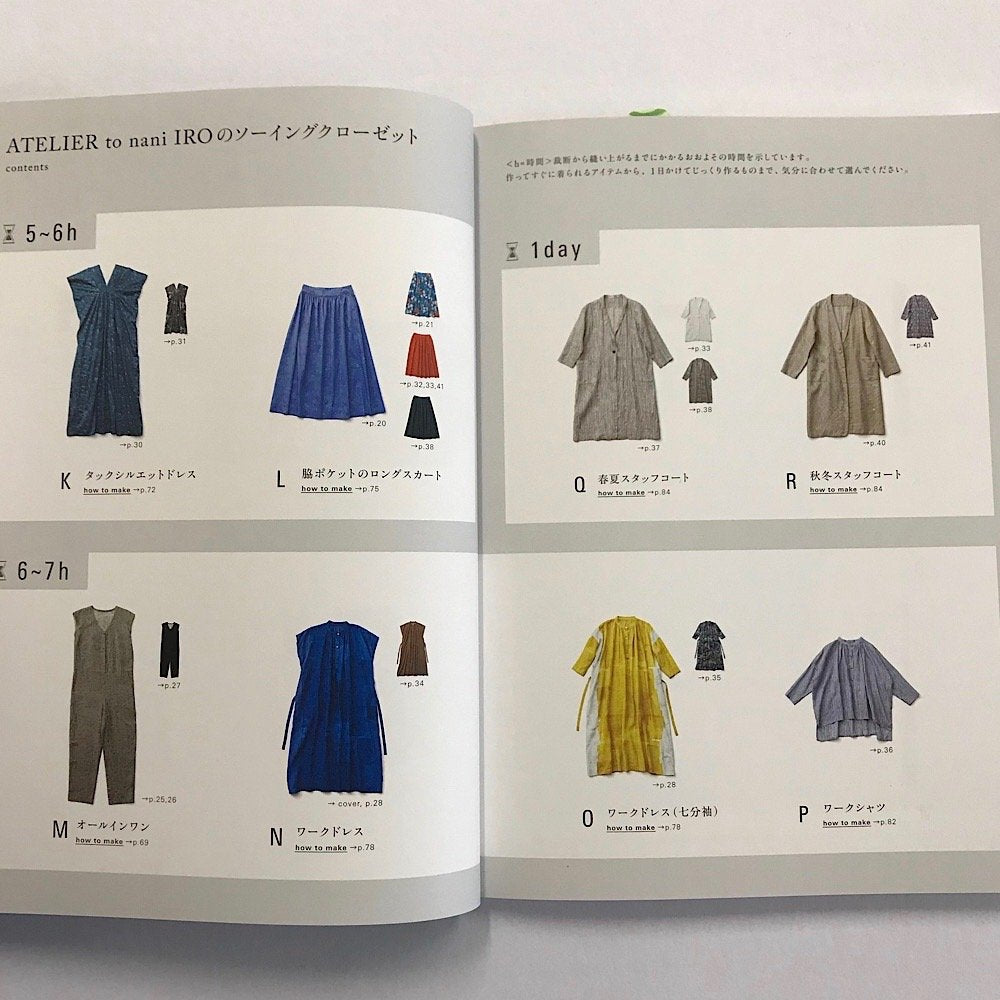Atelier to Nani Iro pattern book