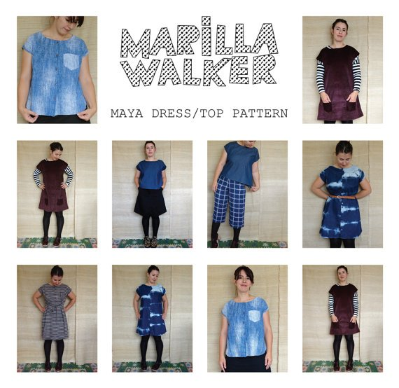 Maya Pattern, top & dress by Marilla Walker