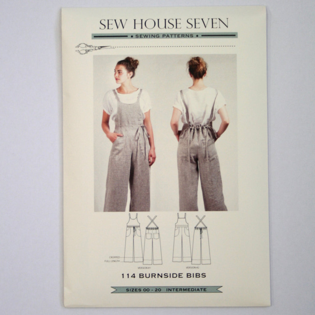 Burnside Bibs sewing pattern by Sew House Seven