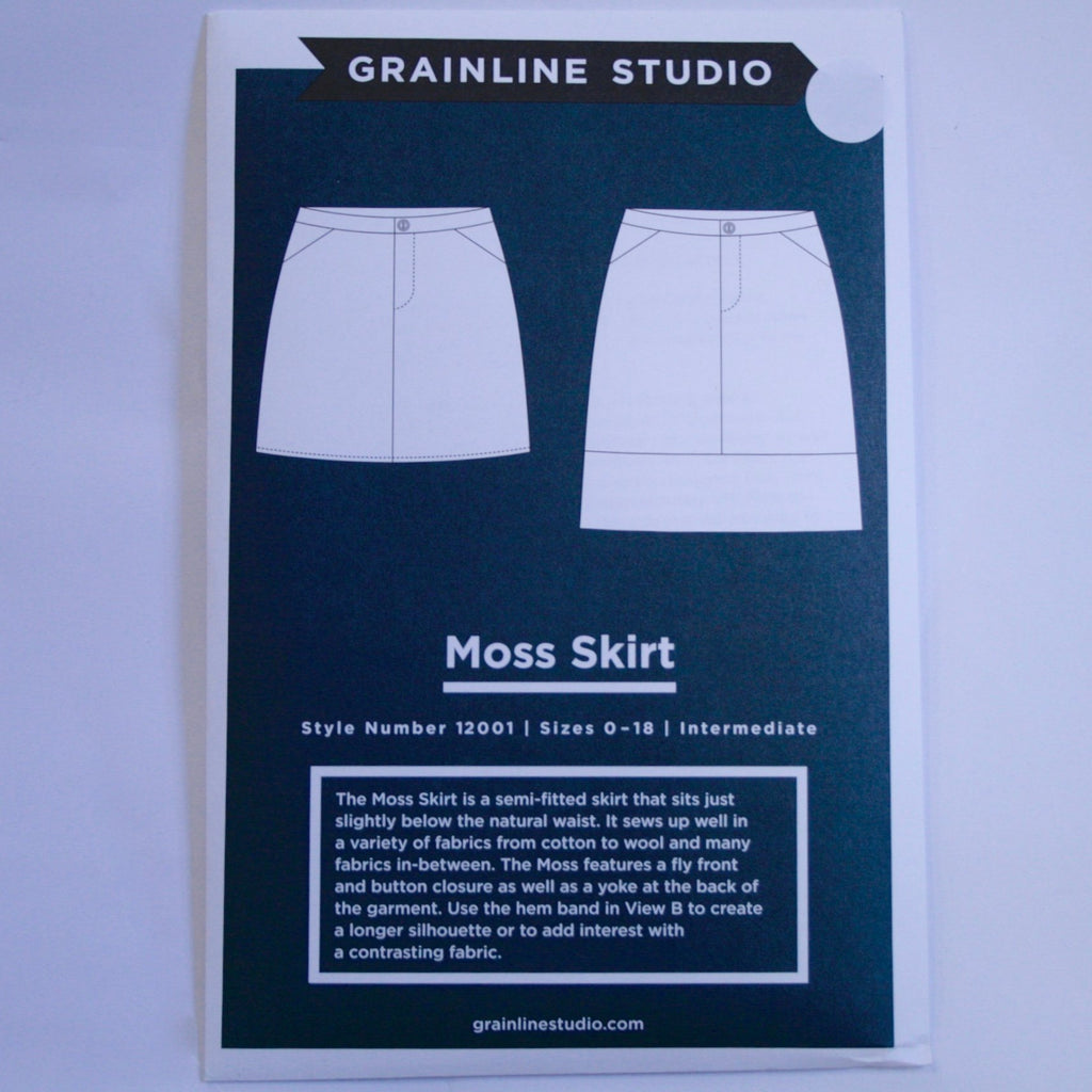 Grainline Moss Skirt pattern