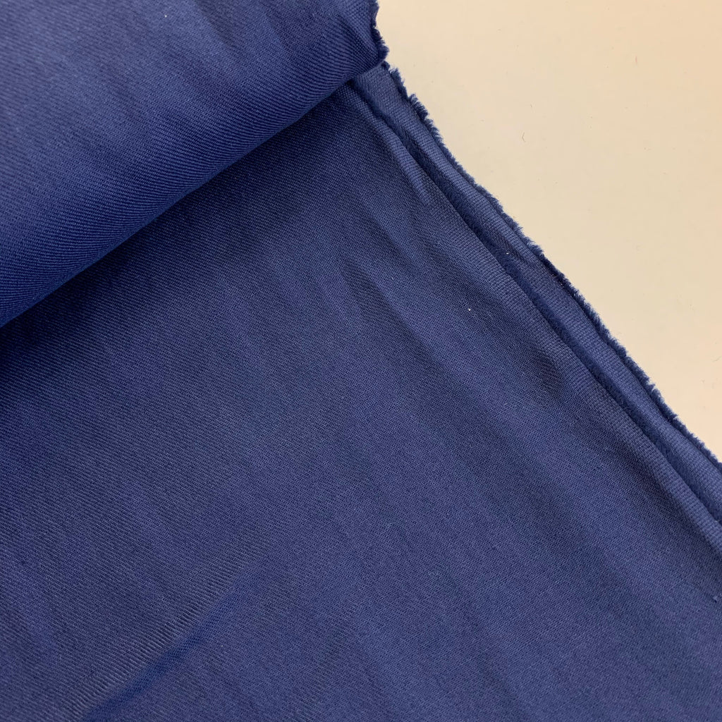 70% cotton 30% linen shirting-weight Japanese twill - Blueberry