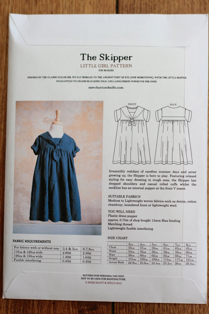 Merchant & Mills - The Skipper girls' dress pattern