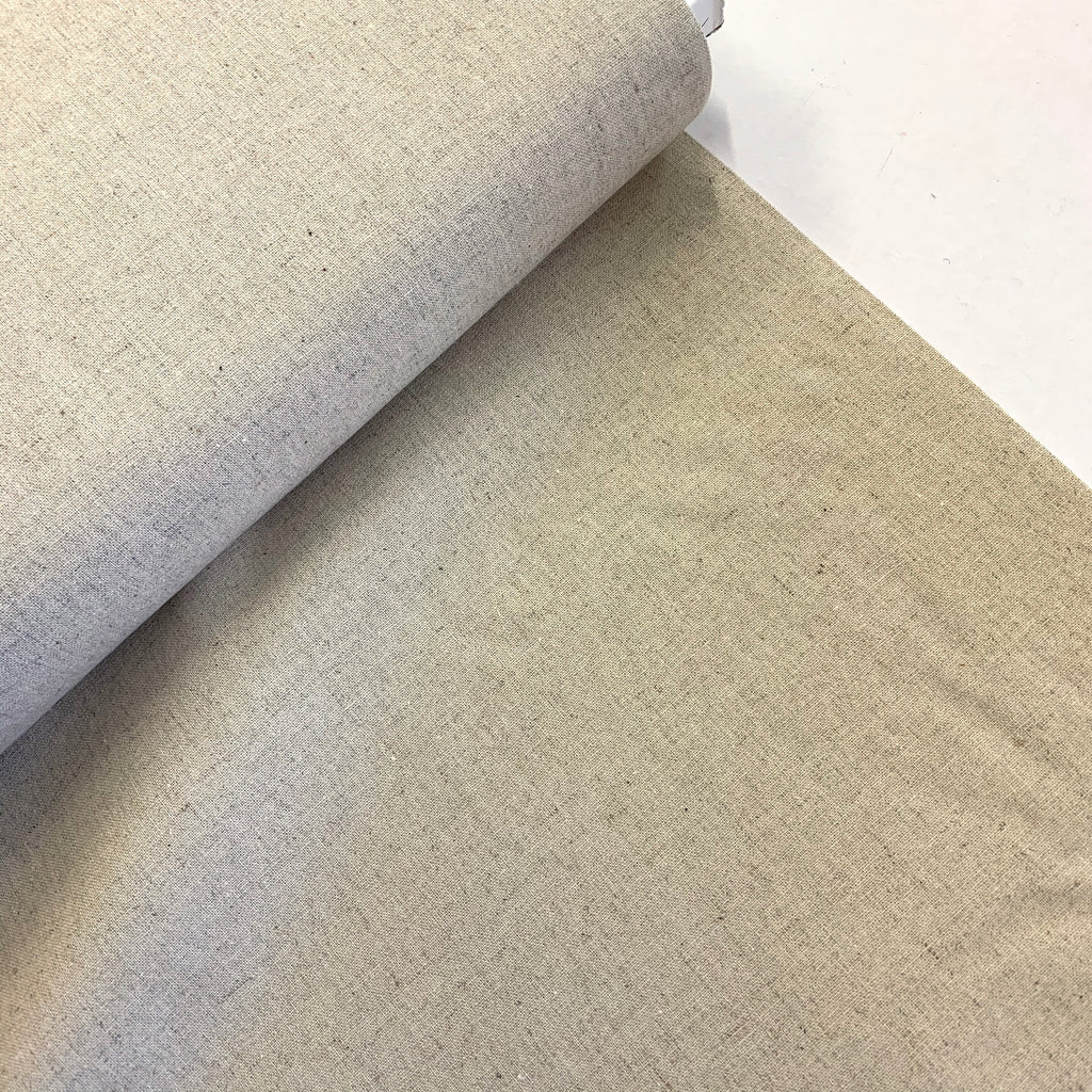 70% Cotton 30% Linen 'Linen Mochi Solids' by Moda - Natural unbleached