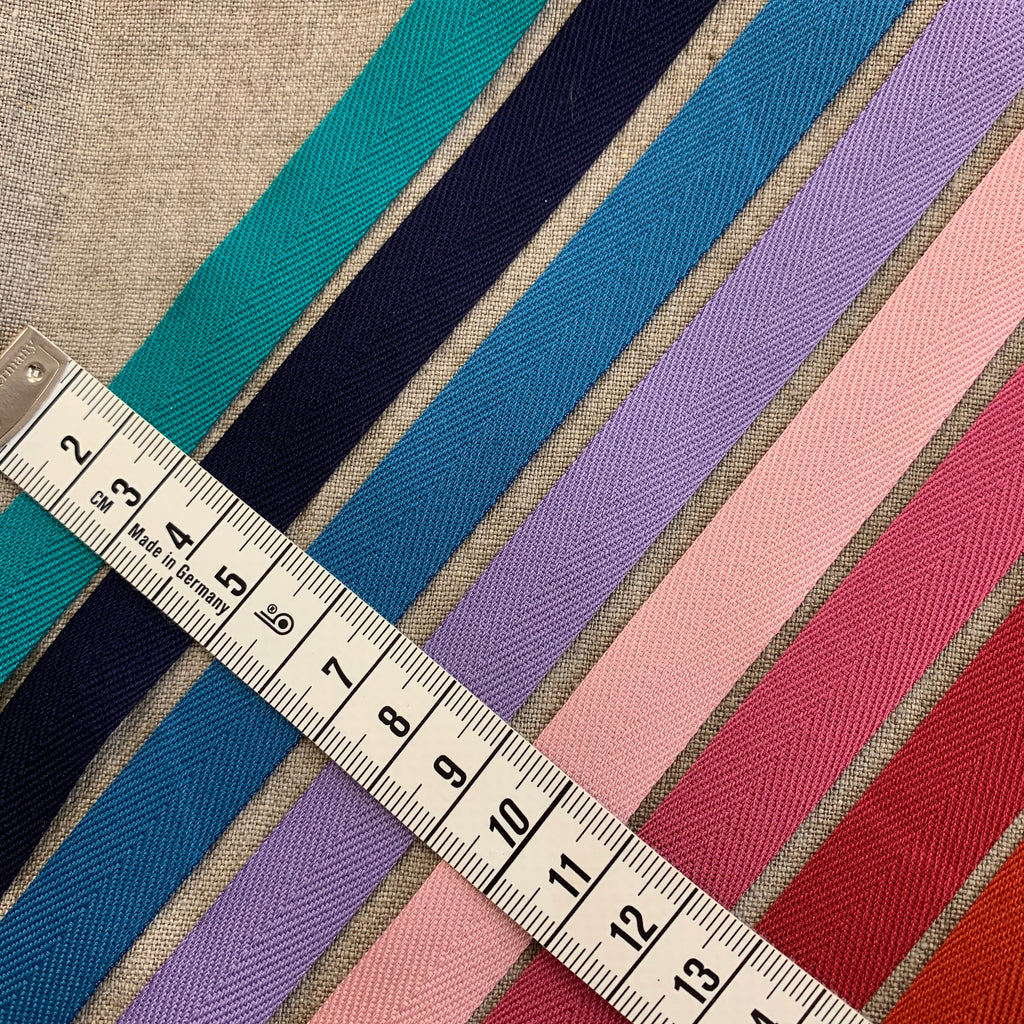 Cotton Herringbone Ribbon 15mm, made in Japan