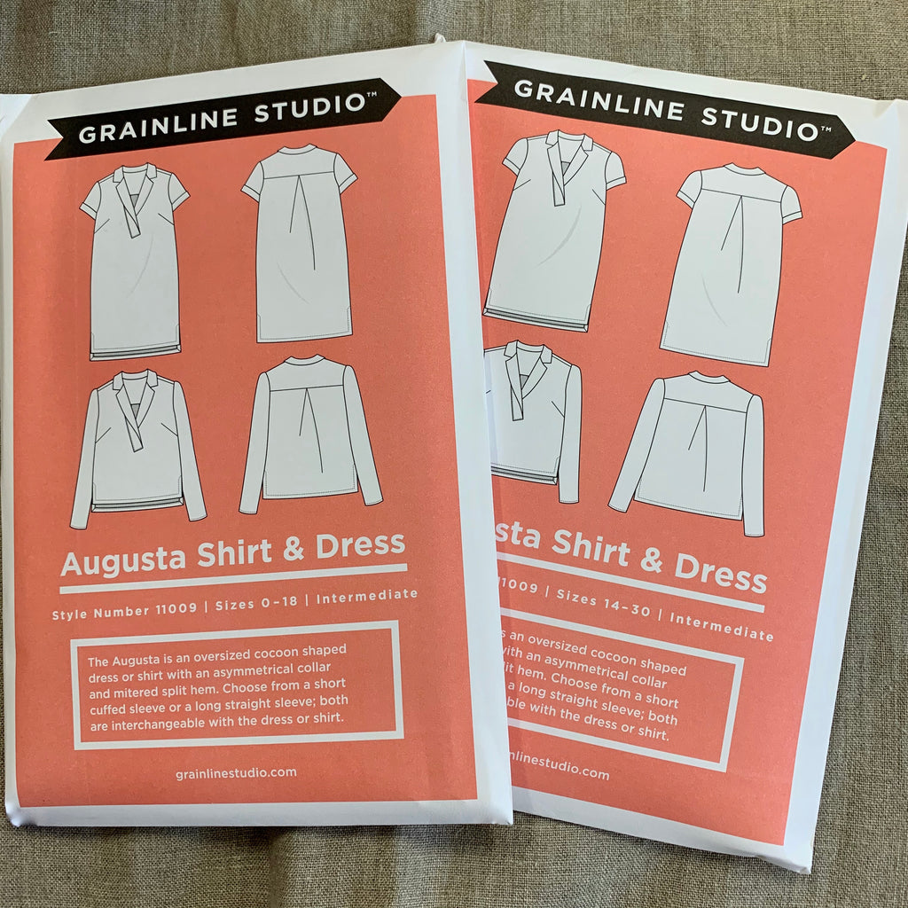 Grainline Augusta Shirt & Dress pattern - two size ranges