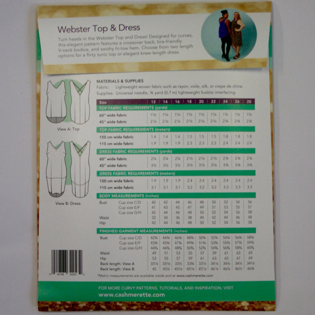 Cashmerette Webster Top and Dress pattern
