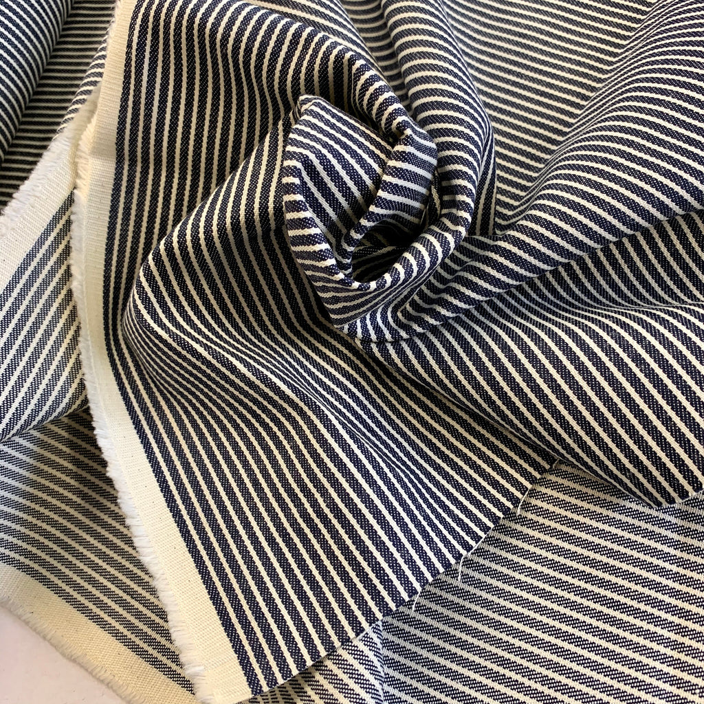 100% cotton Railroad Stripe Twill